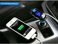 Aux LCD Dual USB Car Charger MP3 Player FM Transmitter for iPhone Samsung Tablet