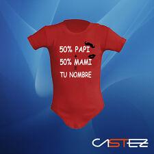Body bebe 50% papi 50% mami personalizado regalo original (ENVIO 24/48h)