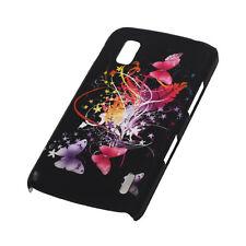 Schutz Hülle Hard Case Cover Schale LG Google Nexus 4 E960 Schmetter schwarz ZU5