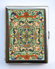 Ornate Floral Pattern #7 Cigarette Case id case Wallet Business Card Holder bota