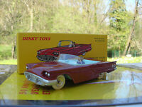 1/43 METAL DINKY TOYS FORD THUNDERBIRD CABRIOLET  Réedition DE AGOSTINI Ref 555