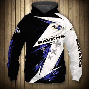 Baltimore Ravens Hoodie Fans Hooded Sweatshirt Lightweight Jumpers Jackets