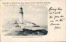 Portpatrick & Wigtownshire Railway Official. Steamer & Corsewall Lighthouse.