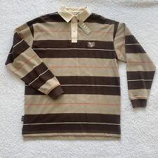 Enyce Polo Rugby Shirt Long Sleeve Mens Medium Button