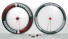 Stradalli Carbon Clincher 50 85Mm Road Bicycle Tt Triathlon Wheelset Aero Red
