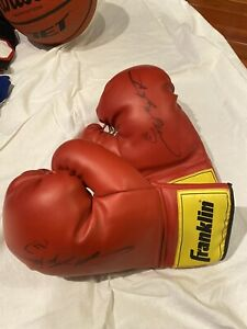Sugar Ray Leonard Signed Gloves
