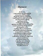 Pharmacist, Pharmacy Tech Poem Personalized Name Prayer