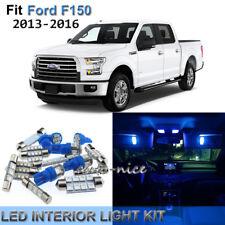 10x Premium Blue LED Interior Lights Kit For 2013-2016 Ford F150