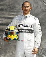 Lewis Hamilton Mercedes Pose 10x8 Photo
