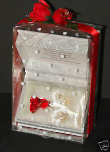 Red Rose Crystal Glass  Personalised gift for ONE YOU LOVE by Cellini   #8