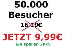 50.000 exklusive Besucher - Wir bewerben Ihre Webseite - Internet Werbung -