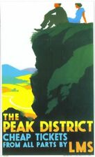 1935 LMS Peak District Railway  Poster A3 Reprint