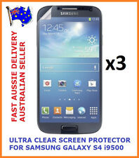 3X ULTRA CLEAR SCREEN PROTECTOR COVER FILM FOR SAMSUNG GALAXY S4 IV i9500