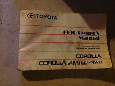 1990 TOYOTA COROLLA ALL-TRAC 4WD Owners Manual  FACTORY DEALERSHIP