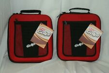 Berkley 2 Large Red Worm Bait Binder Plastic Tackle Bag Case 5B3