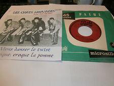 """les chats sauvages""""croque,croque la pomme""""sp7""""or.fr.pathé:45g1687. juke box"""