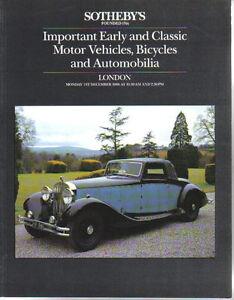 Sothebys 12/86 Bugatti Aston Hispano Rolls Royce BSA Lea Francis Delage AC MG +