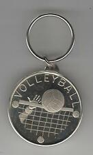 Volleyball coin style nickel engravable keychain Coach Thank you or player gift