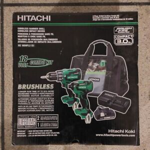 Hitachi 18V Brushless Hammer Drill&Impact Driver Combo Kit KC18DBFL2S