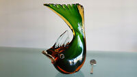 VINTAGE MURANO GLASS MID CENTURY LARGE FISH. 1.7kg, 24cm HIGH MINT CONDITION.