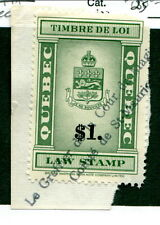 Used Quebec Law Stamp on Piece #QL115 (Lot #12850)
