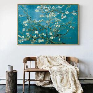 Van Gogh - Almond Blossoms A1 (60x90cm) Quality Canvas Art Print Poster Unframed