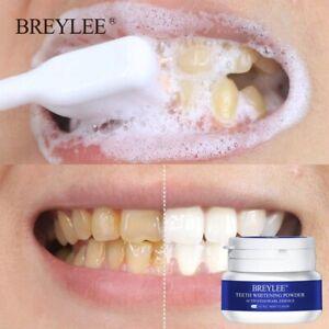 BREYLEE Teeth Whitening Powder Toothpaste Dental Tools White Teeth Cleaning Oral