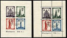 GERMAN French Occupation BADEN 5NB8a 5NB8b Semi-Postal Stamps Imperf Sheets USED