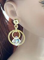 Gold Color Swarovski Crystal Earrings Fashion Dolls Tyler Tonner 1/4 BJD