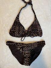 Women's Vintage Ralph Lauren Brown Meshlike Matching Bikini Set Size Small