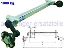 HGW 1000 kg. Achse ungebremst - AM: 1000 mm - AS: 5*112