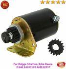 12V Electric Starter Motor For Briggs Stratton John Deere D140 160 D170 AM122337