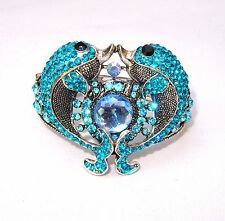 Trendy Turquoise Blue Friendship Love Rhinestone Party Wedding Bangle Jewellery