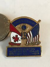 Lions Club INTERNATIONAL Pins  MD 19 1971 WASHINGTON IDAHO BRITISH COLUMBIA B.C.