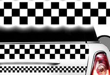 Adesivo Motivo a quadri Race Turbo Bandiera laterali Karo Taxi Decorazione xxx