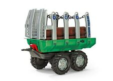 New Rolly Toys Pedal Tractor Log Trailer with 5 Logs Timber Trailer with Logs