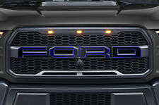 Ford F150 SVT Raptor Grille Insert Graphics Stickers Decals 2015-2018 BLUE OUTLN