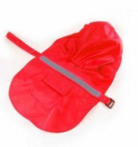 Pets Outdoor Raincoat Large Dog Cloaks Reflective Rain Wear Clothing Waterproof