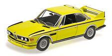 Bmw 3.0 Csl E9 Coupe 1972 Yellow With Stripes 1:18 Model MINICHAMPS