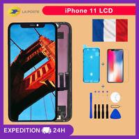 ECRAN LCD VITRE TACTILE LCD ASSEMBLÉ SUR CHASSIS COMPLET POUR IPHONE 11 NOIR