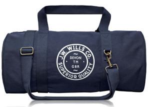 JACK WILLS Leyland Canvas Gym Bag Unisex Navy One Size  *REFNCN