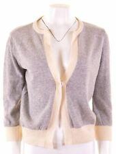 ARMANI Womens Cardigan Sweater UK 14 Medium Grey Wool  DY06