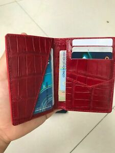 Luxury doubleside Genuine Crocodile Belly Leather Handmade  Credit Card Holder