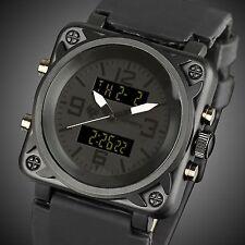 INFANTRY Mens Digital Quartz Wrist Watch Chronograph Date Black Rubber Sport US