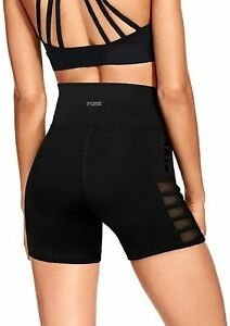 Victoria's Secret PINK Ultimate High Waist Shortie Shorts Black NWT