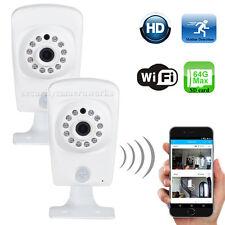 2 Pack Wireless HD 720P Wi-Fi IP Security Camera Audio Night SD Card Record b2i