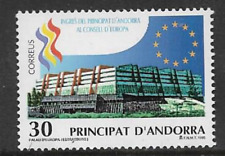 ANDORRA SPAIN POSTAL ISSUE MINT COMMEMORATIVE STAMP 1995 COUNCIL OF EUROPE