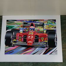 """Alain Prost"" Randy Owens, Ferrari F1, Signed, 30 of 135, 1991, unframed"