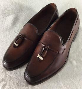 Allen Edmonds Grayson Men's Tassel Loafers Dark Chili Leather 8272 Sz 6 EE New!