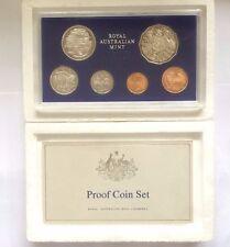 1981 Proof Coin Set - Royal Australian Mint RAM, In Foam Box with Certificate